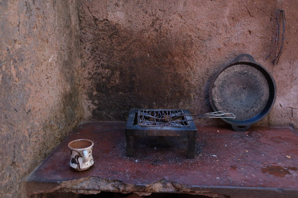 Traditional berber house and cooking utensils