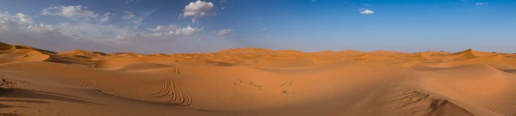 Panorama view of the Sahara