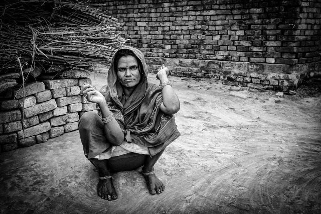 Village woman resting
