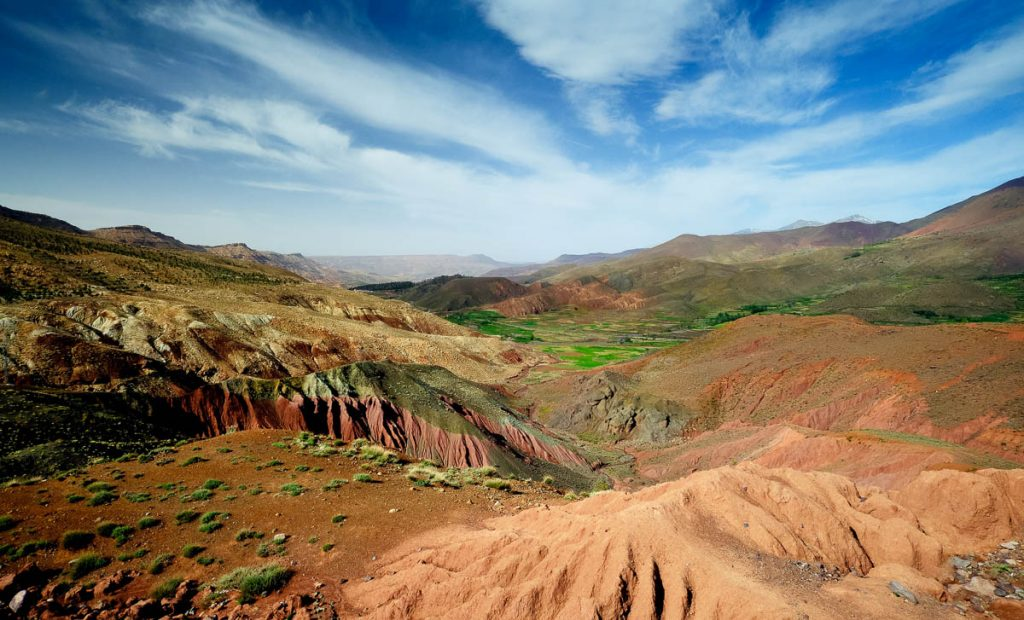 High atlas mountain valley.