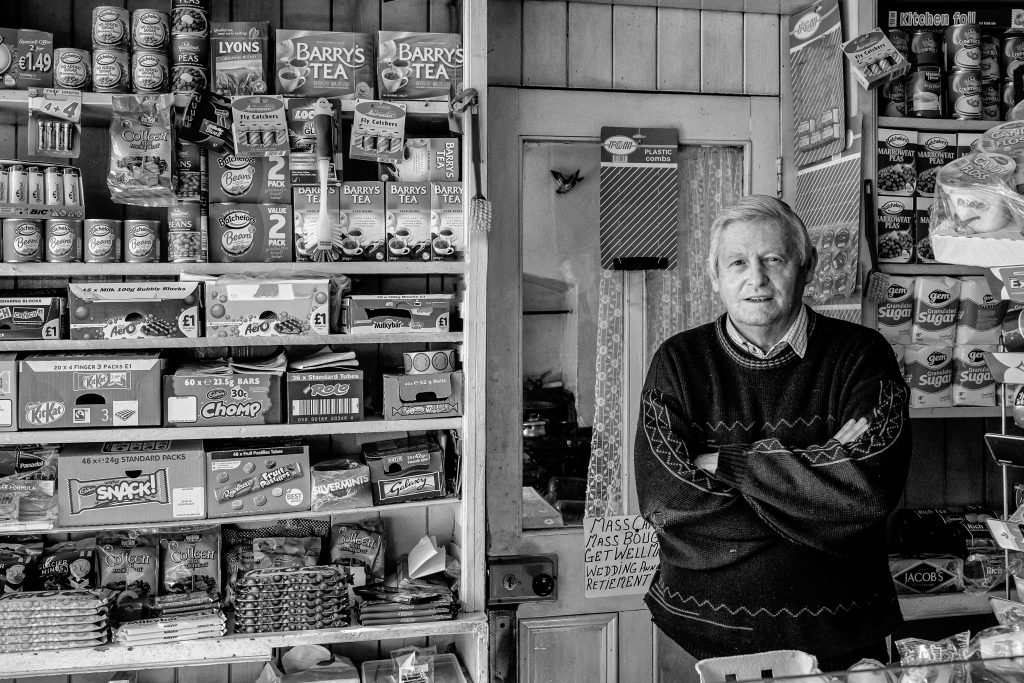 Traditional macroom shopkeeper