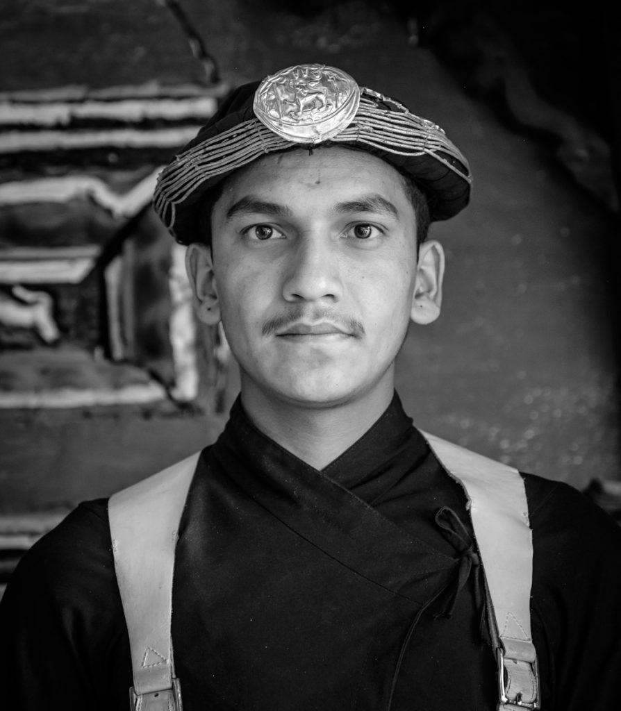 Traditional Nepalise guard