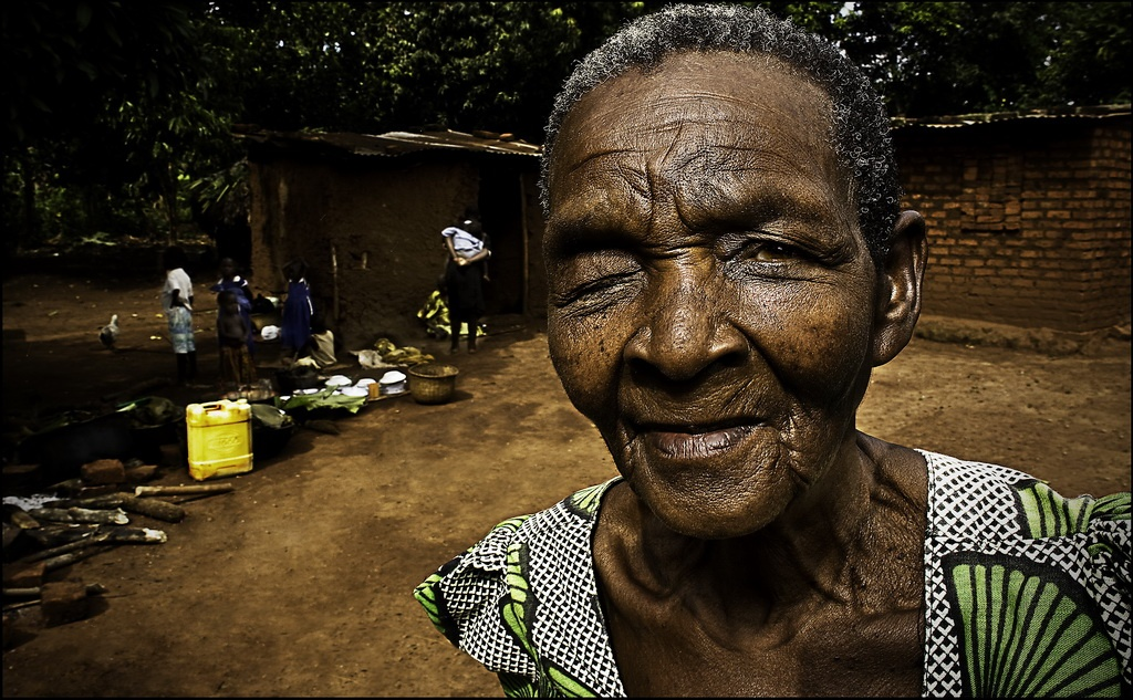 uganda blind woman